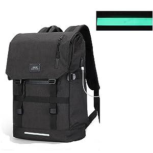 La seguridad de la noche bolso Refelctive: Existe una franja en la parte delantera de la bolsa, lo que hace que esta mochila más visibles en la noche.