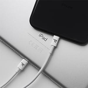 Rampow Cable Lightning Cable Cargador iPhone-[Apple MFi Certificado]-Garantía de por Vida-Compatible con iPhone XS MAX XR X 8 Plus 7 Plus 6S 6 Plus 5 ...