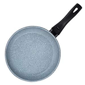 COOKSMARK Faraday Juego de 3 Sartenes Inducción de 20 24 28cm Sartén Antiadherente Cocina con Tapa Universal de Cristal de Color Granito Apta para ...