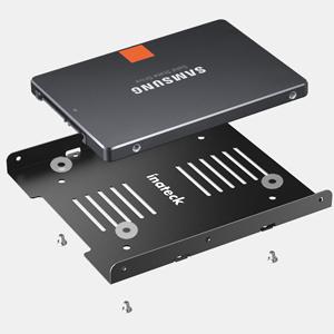 Inateck Kit de Montaje para 2 Discos Duros SSD y HDD de 2,5