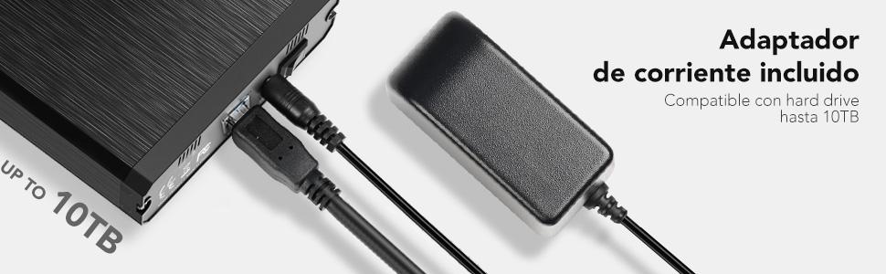 Adaptador de corriente incluido
