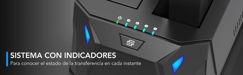 Inateck - Base de conexión USB 3.0 a SATA de Doble bahía para ...