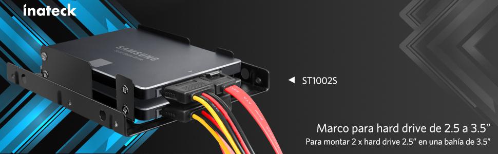 Inateck - Marco para Disco Duro Interno Doble: Amazon.es: Informática