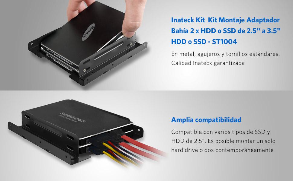 Inateck ST1004-BK - Kit Montaje 2 x 2.5