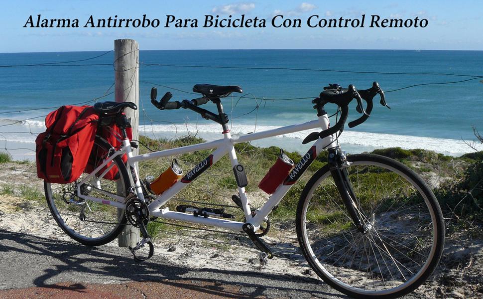 Mengshen Alarma de Bicicleta - Antirrobo para Bici Moto Coche ...
