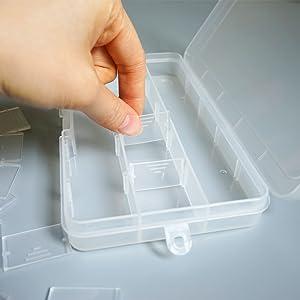 DUOFIRE Ajustable Caja de Almacenamiento de Plástico Joyería ...