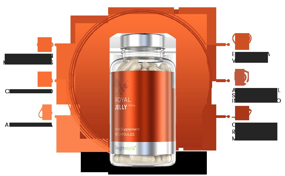 Suplemento Jalea Real | Suplemento Energético | Con Propóleo Puro de Abeja | Para Vitalidad, Fatiga y Sistema Inmunitario | Con Vitaminas y Minerales ...