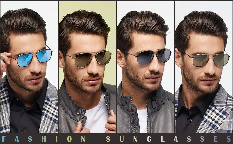 Elegear Gafas de Sol Vintaje Hombre 2018 Gafas Hombre polarizadas con estilo Redondo y Cuadrado, Marco de Aleación Manganeso-níquel, Protección 100% ...