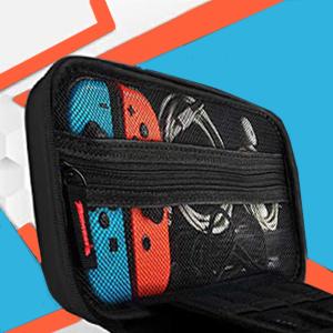JUSONEY Kit de Accesorios Switch Compatible con Nintendo Switch: Incluye Funda con 20 Cartuchos de Juego / Funda con Tapa Transparente / 2 Piezas de Protector de Pantalla HD(Black): Amazon.es: Electrónica