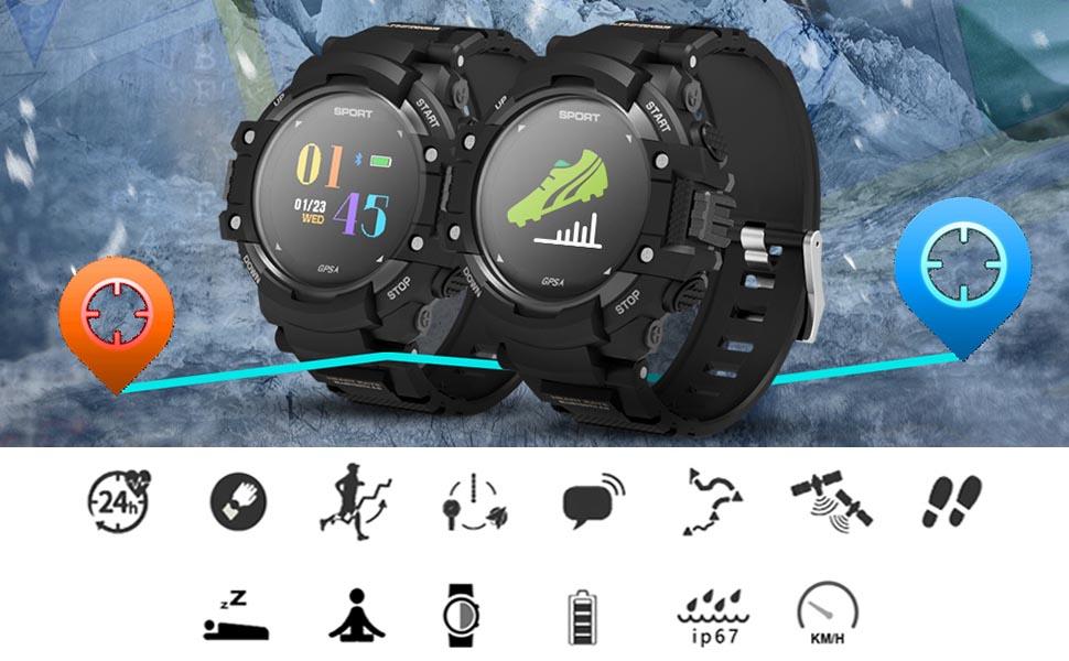 DTNO.I Relojes inteligentes IP67 Resistente al agua Reloj ...