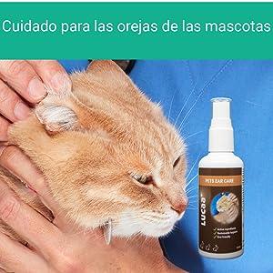 cuidado auricular, cuidado para orejas, producto para gatos perros mascotas