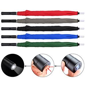 5 colores de los paraguas LED le dan más opciones.