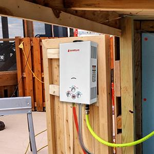 Camplux BW422 Calentador de Agua a Gas, LPG Instantáneo Propano Calentador de Agua pro Gas 16 Litros 32kW