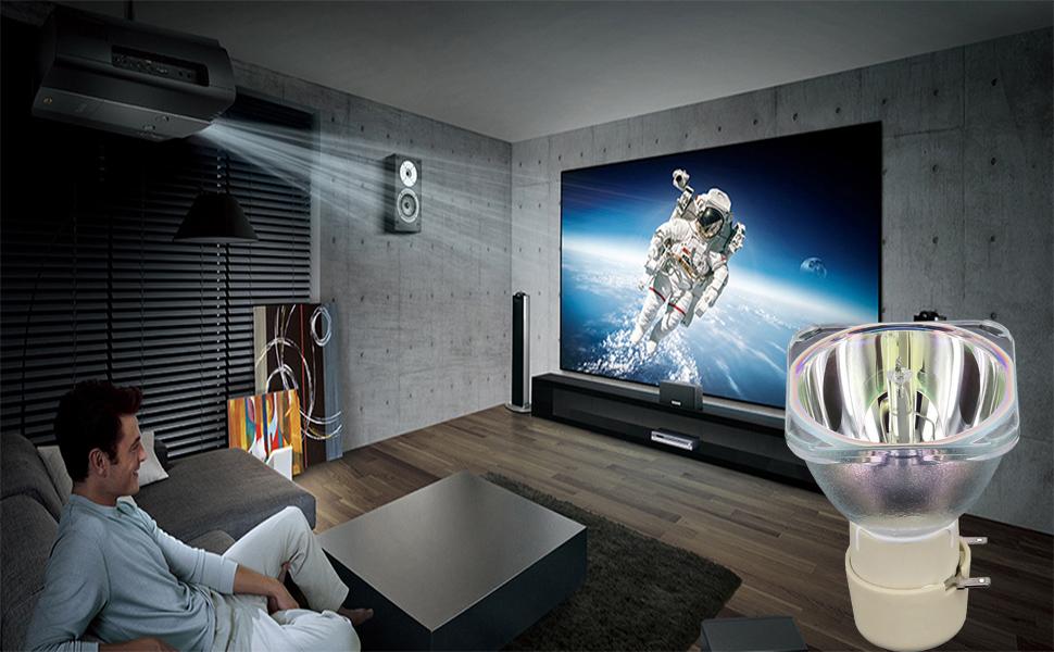 Angrox UHP 190W/160W 0.9 E20.9 lámpara de proyector para Varios proyectores para Optoma HD142X HD27 H183X GT760 HD600X para BenQ MW523 MS524 MS527 ...