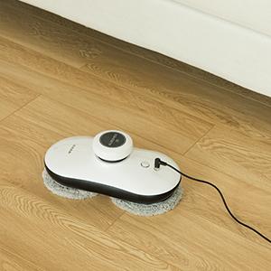 albohes Z5 Robot de limpiaventanas/limpiacrstales, de Forma Redonda, Limpie Cristal de Interior y Exterior, Automático Robot Limpiavidrios, Limpiador para Ventanas con Marcos: Amazon.es: Hogar