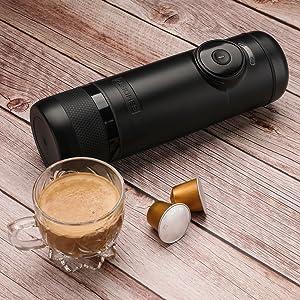 Cafetera Portátil Recargable Albohes, Mini Máquina de Espresso ...