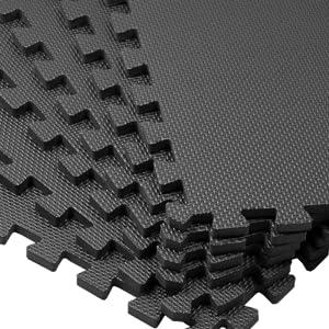 bemaxx fitness outdoor puzzle mats floor Esterilla Puzzle de Fitness 18 losas de Goma Espuma Bordes