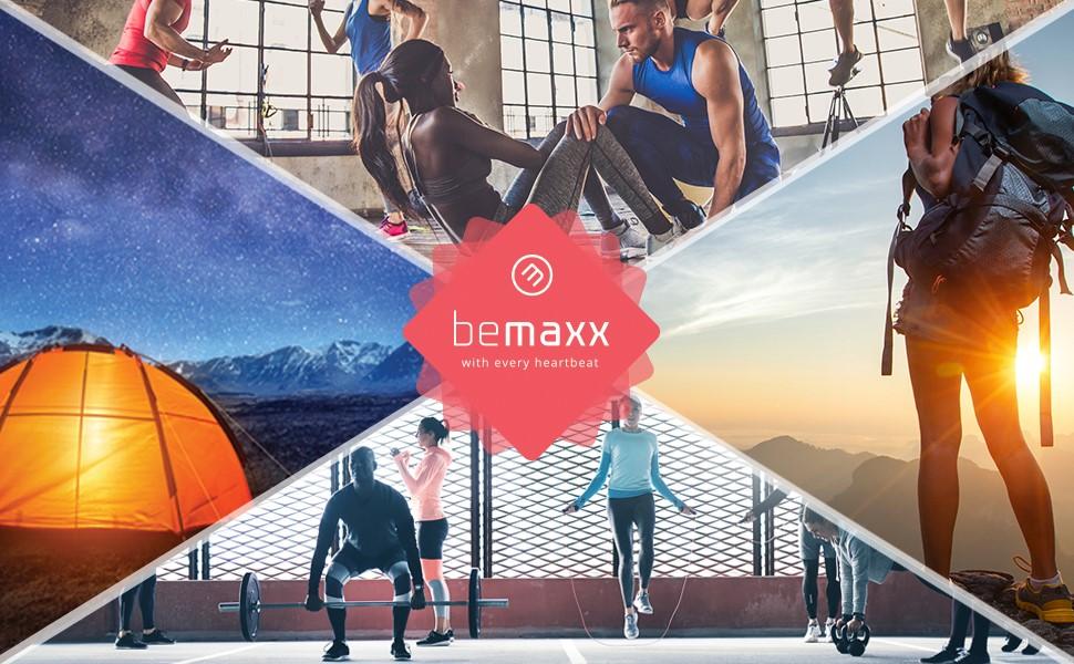 BeMaxx Anillas de Gimnasia de Madera Fitness + Anclaje para Puerta & guía de Ejercicios   Set de Entrenamientos gimnásticos & Correa + Hebillas   ...