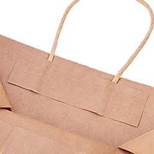 BENECREAT 30 Pack Bolsas de Regalo de Papel Kraft con Asas Compras, Mercancía,, Fiesta, Boda, Papel 100% Reciclado 10 Colores Mixtos