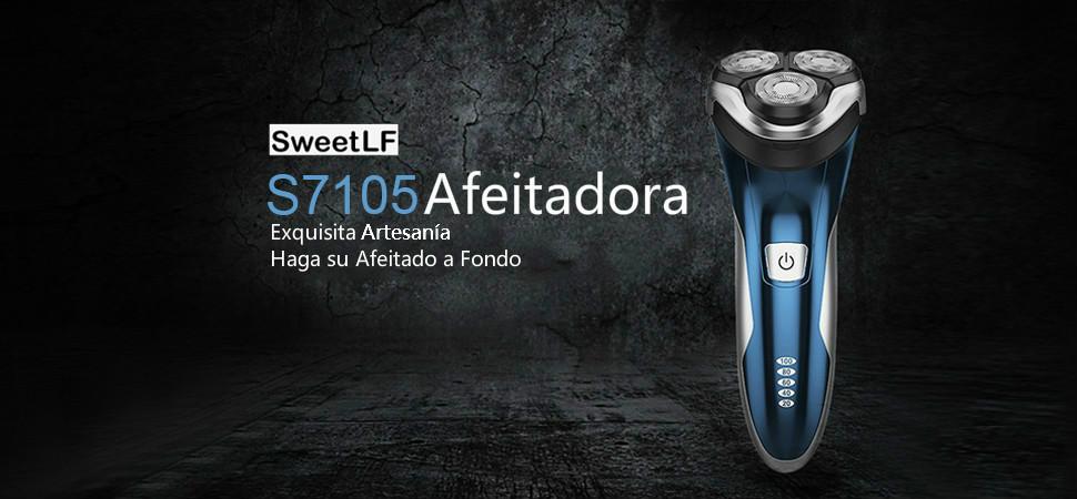 SweetLF Afeitadora Eléctrica Rotativa Uso en Húmedo y Seco para ...