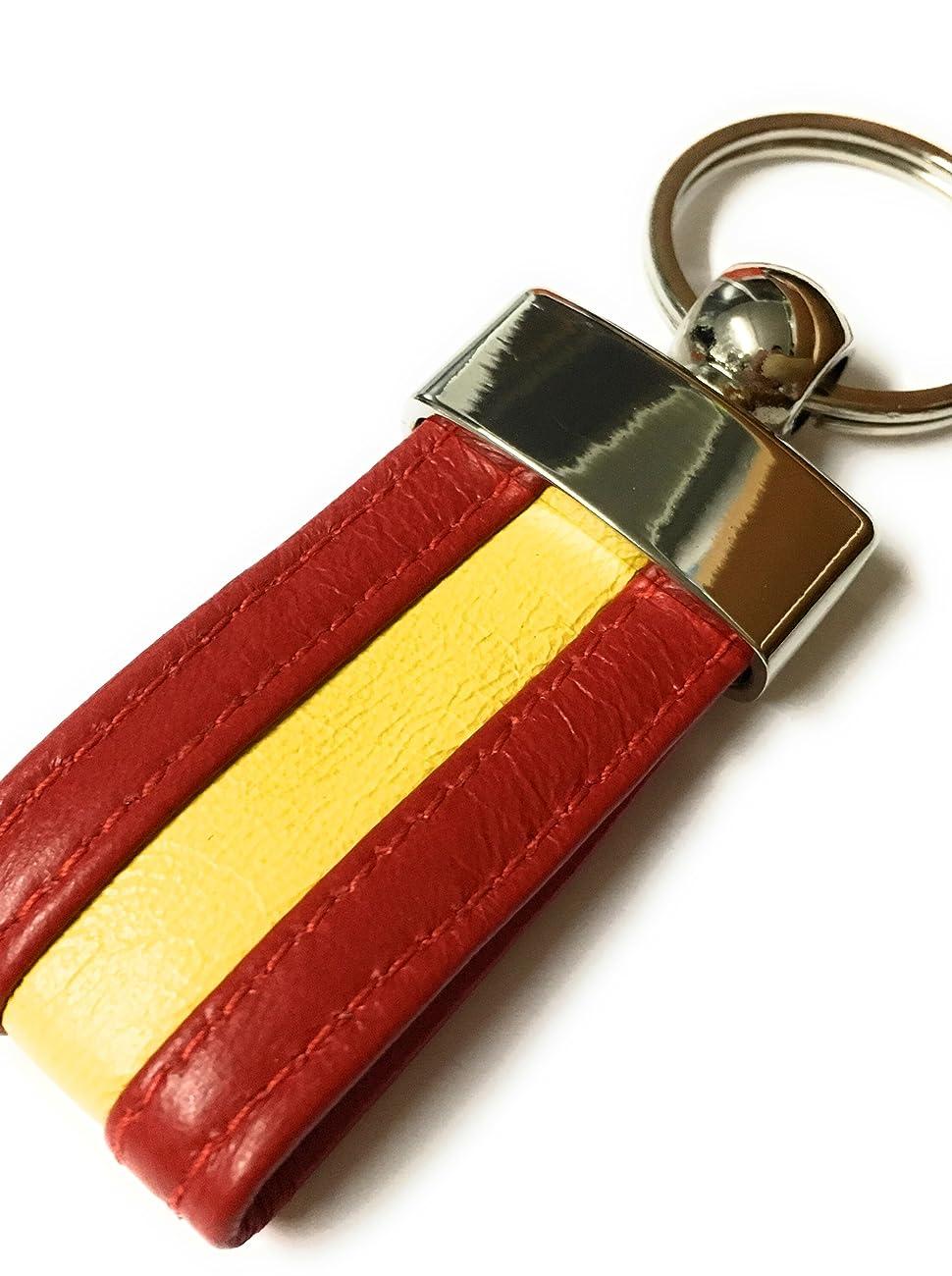 Llavero De Piel De La Bandera De España (100% ARTESANO): Amazon.es: Zapatos y complementos