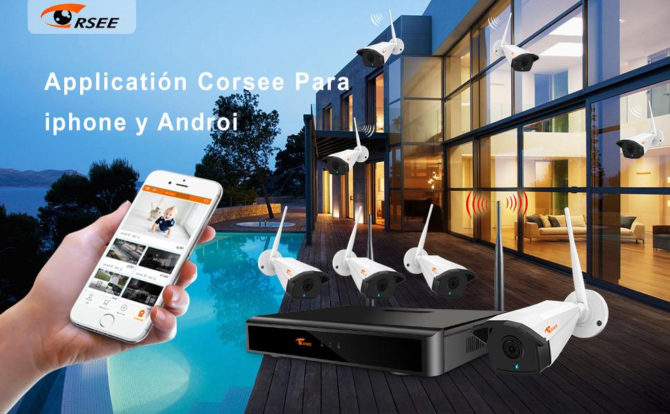 1080P 8 Canales NVR+ 8x1080P Cámaras-2TB Disco Duro