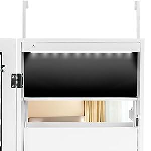 Ezigoo Armario para Joyas LED con Puerta con Llave - Armario ...