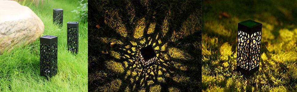 Lamparas de Jardin, Lámpara Solar Luz ambient, Ideal Para Jardín y Patio, Lámparas Solares Farola LED, Lámparas Solares Jardin [Clase de eficiencia energética A] (luz cálida, luz solar*8): Amazon.es: Iluminación