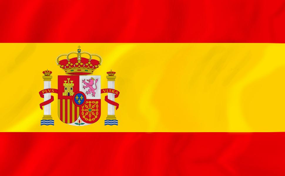 Bandera España Grande, 2Pcs Bandera Nacional Bandera Española, 90 x 150 cm, con 4 Pegatinas Impermeables (2 Pack): Amazon.es: Jardín