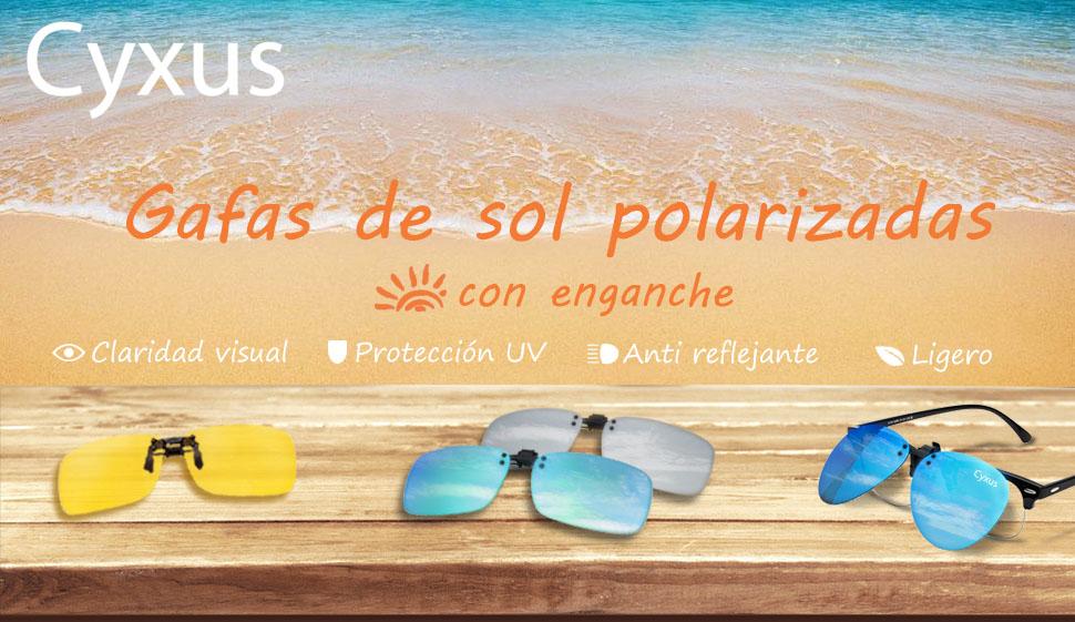 Cyxus polarizado reflejado lentes clásico gafas de sol Gafas ...