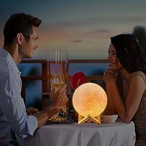 Lámpara luna de Indoostrial, una lámpara mil noches y lugares