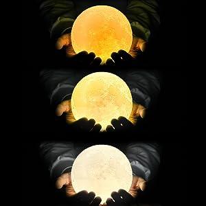 Varias tonalidades de luz