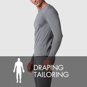 Corte drapeado proporciona la mejor comodidad. Y es adecuado para las actividades de invierno.