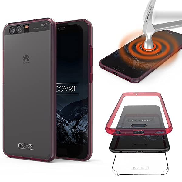 Urcover Huawei P10 Funda [Nueva Versión ] Mejorada Funda Carcasa Huawei P10 [Completa 360 Grados ] TPU Crystal Clear Case suporto Qi Móvil Smartphone ...