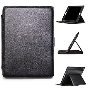 Urcover® iPad Air 2 Funda, Melko Cuero Genuino Luxury Smart Cover Elegante para Apple Tablet función Apagado/Encendido Carcasa Protectora Sleeve Apple iPad Air 2 9,7 Pulgadas Negro: Amazon.es: Electrónica