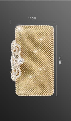 CLOCOLOR Bolso de Mano con Diamantes Cristales Brillantes Cartera de Mano Estilo Elegante de Lujo Bolso de Fiesta para Mujer