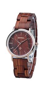 ... Bewell Pareja de relojes de madera para mujer ...