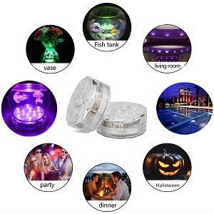 Luz Led Sumergibles en Agua con Mando a Distancia/Luces impermeables RGB