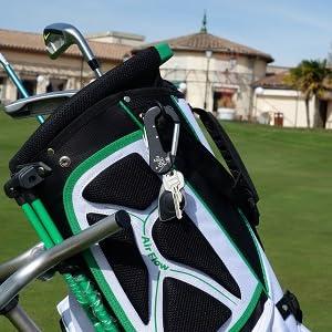 Novedad Accesorio de Golf 5 en 1 - Ergonomico Tiene, arregla-Pique - Llave Spike para Tacos – Marcador de Bola magnético - Cuchillo de Bolsillo - ...