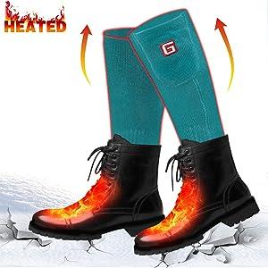 Unisex deportes al aire libre con pilas calcetines de calefacción: