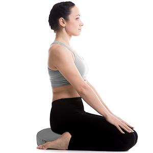 UMI. Almohada y Cojín de Apoyo para Meditación y Yoga Zafu Relleno de Alforfón