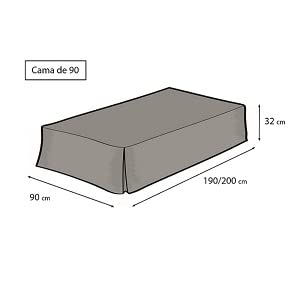 Easycosy - Cubre Canapés para Somier ATENEA Faldon para Cama 135 cm Cubrecanape - Color Crudo (135x190/200cm)