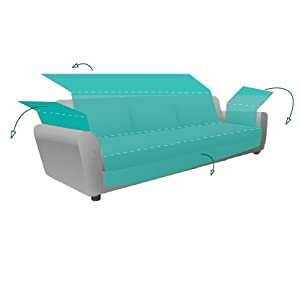 textil-home Funda Cubre Sillón Relax Adele, Tamaño 1 Plaza -Protecto Sofá Acolchado Reversible. Color Gris