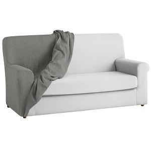 textil-home Funda de Sofá Elástica TEIDE, 3 plazas - Desde 180 a 240 cm. Color Gris