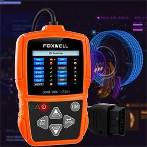 FOXWELL NT201 OBD2 EOBD Y PUEDE VERIFICAR EL MOTOR LIGHT CODE SCANNER