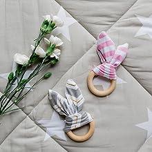 Kindsgut - Anillo de dentición de madera para bebés (2 ...
