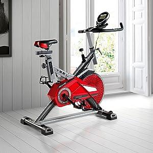 ECO-DE Bicicleta Spinning Absolut. Uso semiprofesional con pulsómetro, Pantalla LCD y Resistencia Variable. Estabilizadores. Completamente Regulable.: Amazon.es: Deportes y aire libre