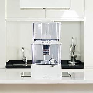 ECODE Torre Jarra de Agua purificadora, 8 Sistemas de filtrado ...