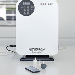 ECO-DE Generador de Ozono portátil, Mando a Distancia, programable, purificador Agua, Alimentos Ozonator Plus 500mg/h: Amazon.es