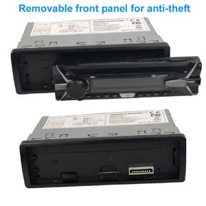 PolarLander Autoradio Bluetooth, 4×50W Manos Libres Radio Estéreo de Coche, Llamadas Manos Libres, Función de Radio 1 DIN/Desmontable Panel ...